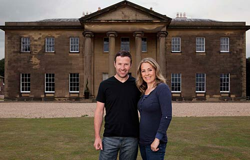 Sarah Beeny and Graham Swift