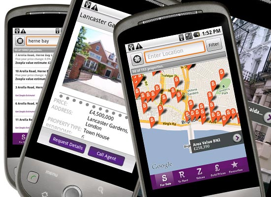 Zoopla's Android App Released