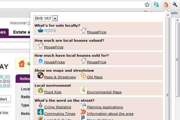 One Property Gadget Searches over 20 sites