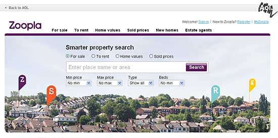 Zoopla now powers AOL UK property search