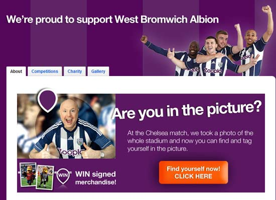 ZOOPLA.CO.UK TO BECOME MAIN SPONSOR OF WEST BROMWICH ALBION FC